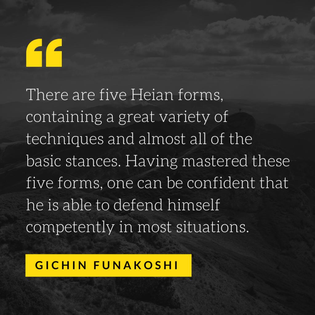 Funakoshi Quote - Kata