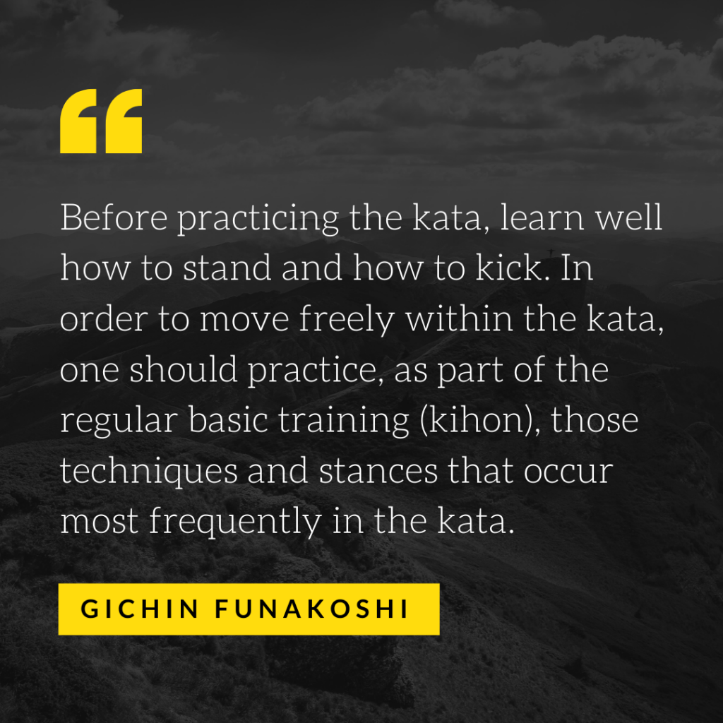 Funakoshi Quote - Kihon