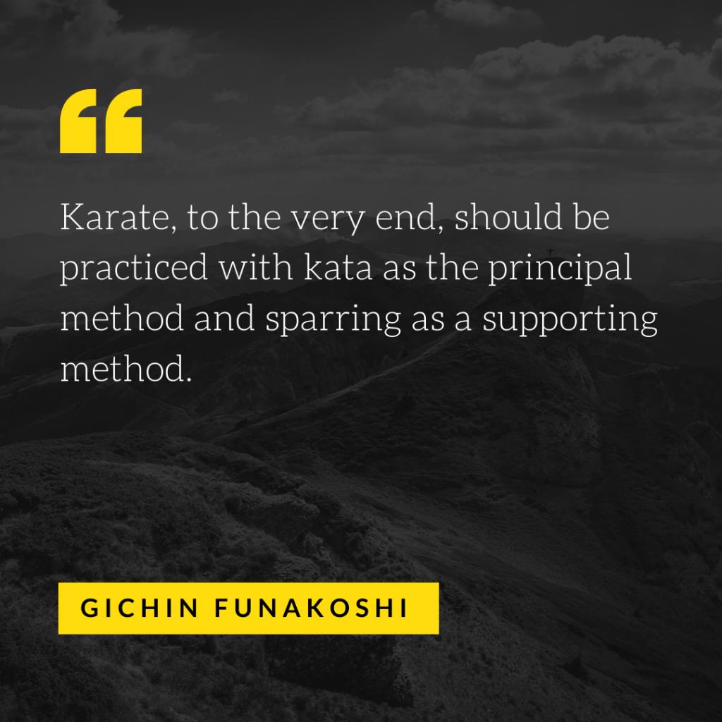 Funakoshi Quote - Kumite